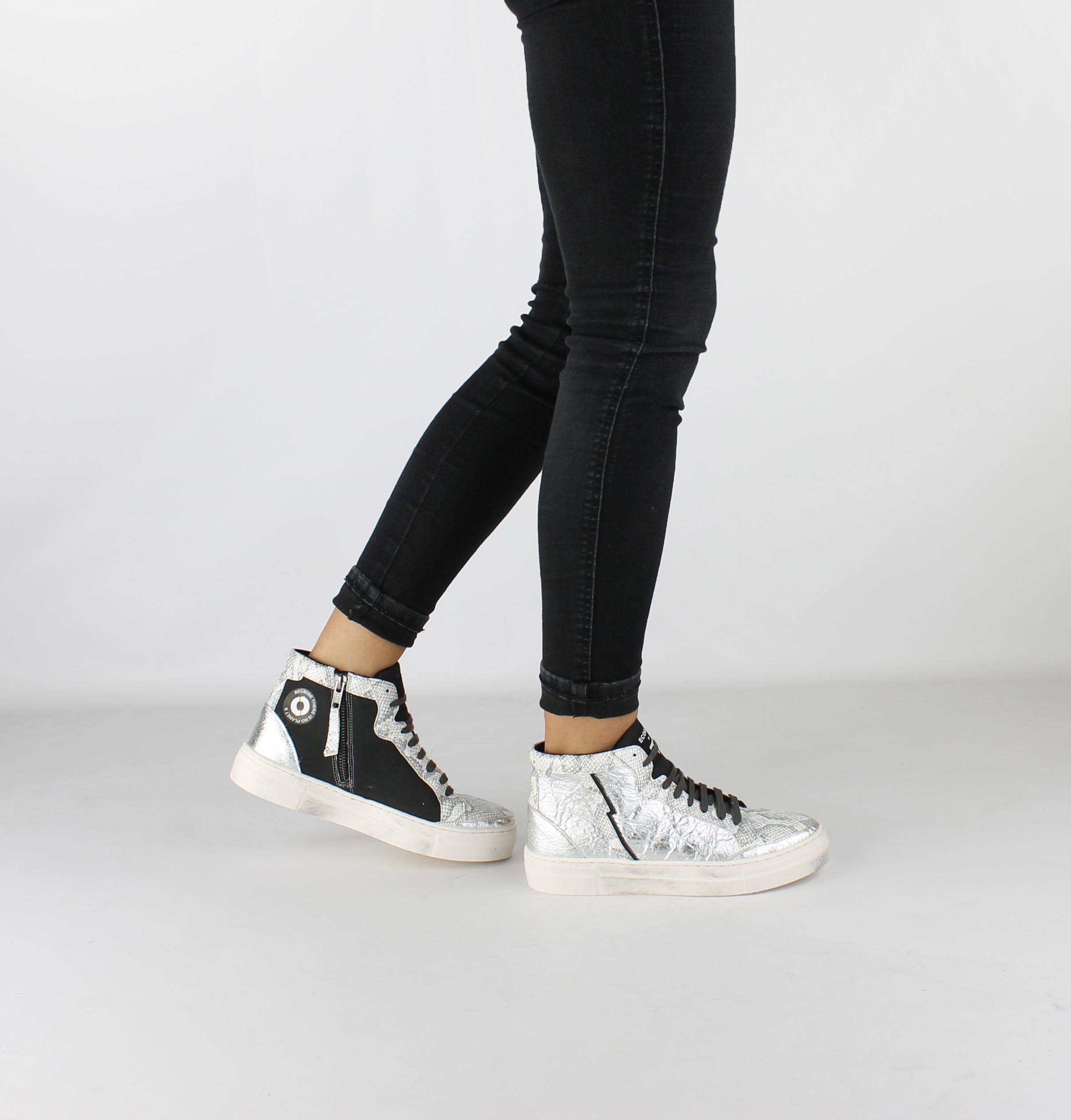 sneakers donna argento pinatex vegan