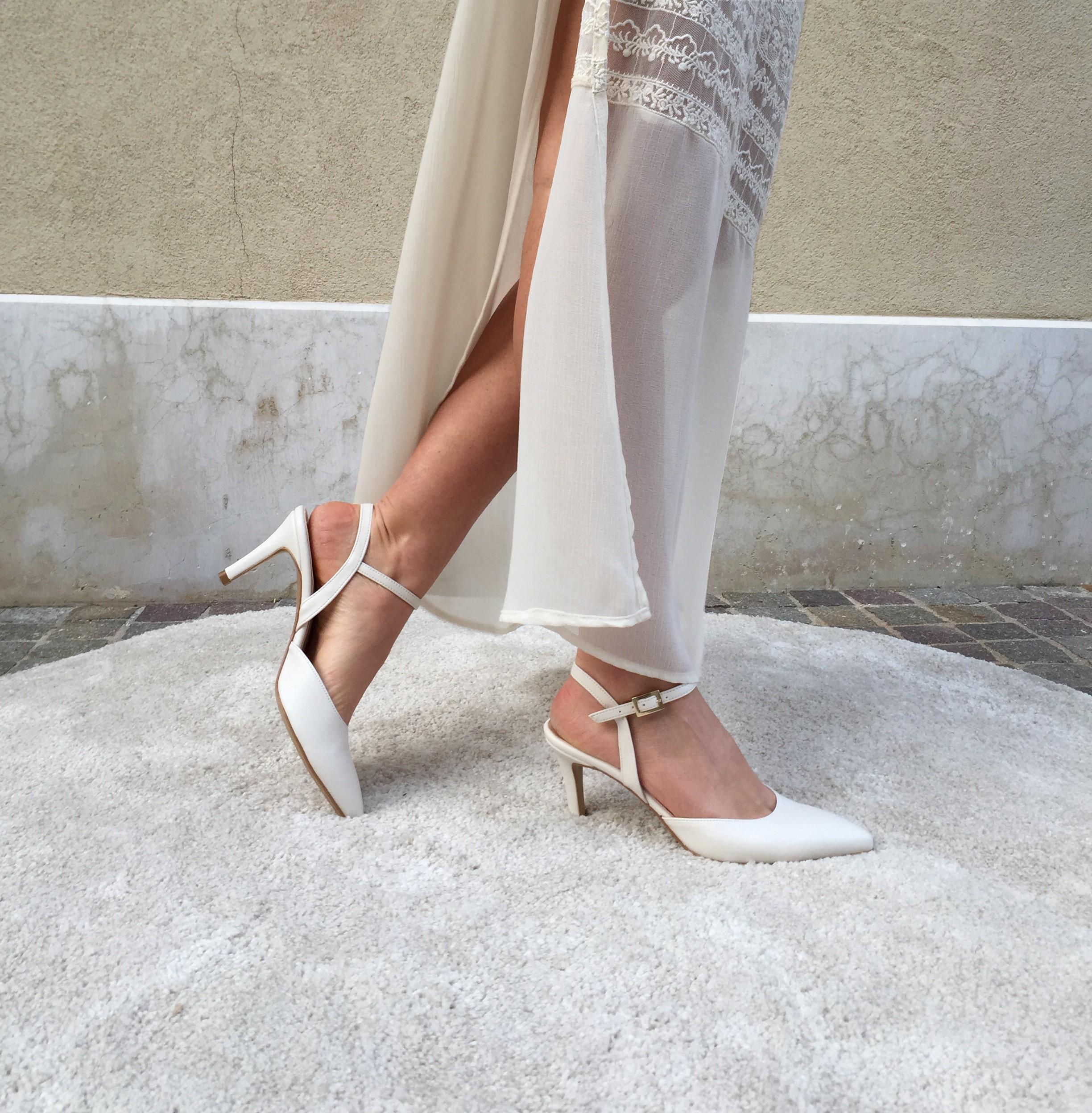 sandalo da sposa tallone aperto punta chiusa