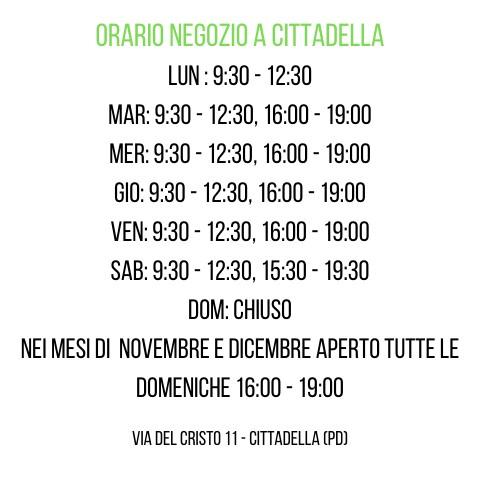 Orario Negozio Vegan Shoes Italy Cittade